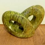 heart | speckstein grün-orange | 3.5kg | 27/10/18cm