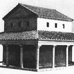 reconstrucción de un templo galo-romano