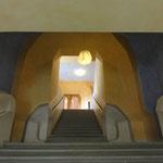 detalle adentro del Goetheanum (no se deben construir ángulos de 90 grados!!!)