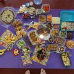 abundance lunche where everyone shared something...