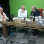Pascal K'in am Schweizer Fernsehen Schweiz 5 mit Norbert Brakenwagen, TimeToDo... vor der Show...