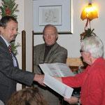 Mitgliederehrung während der Weihnachtsfeier 2014, Karheinz Krause, 15 Jahre