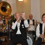 """Die """"Storyville Jazzband"""" aus Rendsburg, unsere Gäste in Wilster am 13.04.2014 in voller Aktion. Wir sind immer wieder begeistert."""