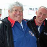 Schlussveranstaltung der Matjeswoche 2015 in Glückstadt -Harro und Bruno in bester Laune-