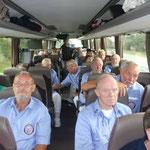 Männerchortag 2014 des SSH, Husum, 06.09.2014, die gemeinsame Busfahrt