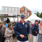 Schlussveranstaltung der Matjeswoche 2015 in Glückstadt -Thomas, zum ersten Mal dabei-