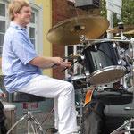 Männerchortag 2014 des SSH, Husum, 06.09.2014, Stefan Mehlert unser Drummer