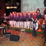 Dorf Wangerland vom 13.10. - 15.10.2017, Shantychor-Abend, eine tolle Bühnendeko
