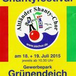 Shantyfestival in Grünendeich am 18.07.2015, Festivalplakat