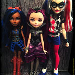 сравнение кукол DC Super Hero Girls, EAH  и Monster High
