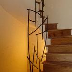 Rampe centrale d'escalier Paris 19