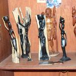 Statuettes en ébène