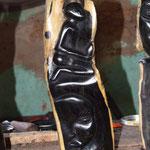 Statuette en ébène