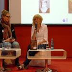 Farina de Waard beim 30-minütigen Interview über Selfpublishing