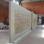 Монолитные бетонные заборы, двусторонние , декоративные http://www.concrete-fences.com/ Цех производства Москва