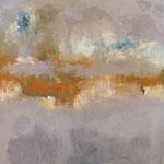 """""""Soleil Levant"""" - Huile et pigments sur toile - 100x100cm- 2017"""