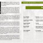 18 mai 2013 : Pierre QUEVAL