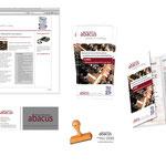 Lohnbuchhaltung abacus-Berlin: Grundausstattung jimdo Homepage, Flyer, Visitenkarten und Stempel