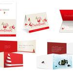 Auswahl von Weihnachtskarten 2015