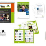 Landhege Verlag Schwaigern: Komplette Geschäftsausstattung z.B. Logo, Webseite, Plakate, Pressemitteilungen, Stempel, Anzeigen etc.