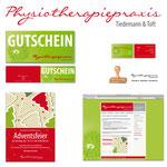 Physiotherapiepraxis Tiedemann Berlin: Geschäftsausstattung