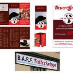 B.A.R.F. Futterkrippe: Flyer, Handzettel, Plakate, Firmenschild, ...