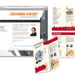 Webseitenüberarbeitung Jimdo, Flyer