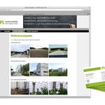 Webseitelayout mit dem kostenlosen 1+1 Baukastensystem, Visitenkarten // www.arbeitsschutz-ips.de