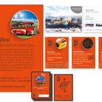 """Kulturmarkt Leingarten: Emblem """"Buskultour"""", Fahrkarten, Plakate, Ausstellungseinladung, Anzeigen"""