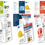 Ingenieurverbund Reiner Siebert Berlin: Überarbeitung des Logos, Faltblätter für die unterschiedlichen Arbeistbereiche