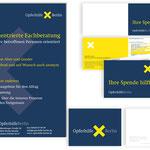 Opferhilfe Berlin e. V.: Überwesiungsträger, Aufsteller, Postkarte