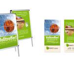 Parkett Company Berlin: Aktion zur Fußball WM 2014, Plakate und Flyer