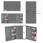 Wagner Unternehmensdienstleistungen: Präsentationsappe A4, dreiteilig mit Klemmschiene und Einleger