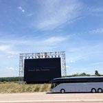 Fahrten auf der noch nicht eröffneten A14 bei Magdeburg