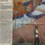 artikel over muurschildering Lauwerecht - in opdracht van werkgroep Direkte Voorzieningen