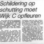 artikel over schuttingschildering Paardenveld 1980 - in opdracht van werkgroep Direkte voorzieningen