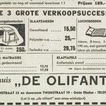 advertentie utrechts nieuwsblad 12-07-1962