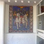 mozaiek bij entree vm hoofdkantoor