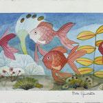 Titolo: Visita Guidata - Tecnica: acquerello su carta - Misure: cm 17,8x49,8 - Anno: 2001 - Collezione Studio Logico