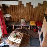 banc non chauffé / rangement bois