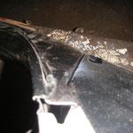 Die 86er Kotflügel habe ich zum Anpassen mal montiert und die Heckschürze nach unten hin ausgerichtet