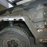 Ich habe an einem auto noch nie soviel spachtel, GFK und Dichtmasse entdeckt wie an dem hier.