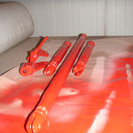 Cup-Strebe lackiert, in dem schönen Rot :-) (Verkehrsrot)