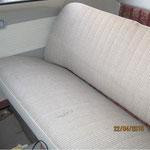 ...die Sitze nur wenige Risse, kann man noch einfach reparieren. :o)