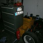 Neuzugang ist der Schrank mit den Schubladen, merci Andy. :-) Da passt nun alles an Werkzeug rein.....