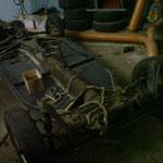Der 66er Cabrioboden mit top Achsen, Getriebe...