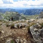 маршрут на Боботов Кук, вид с перевала Velika Previja
