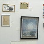 """""""favorites in FAVORITEN"""" - Ausstellungsansicht, von links nach rechts: Maria Bussmann, Maria Bussmann, Natalia Weiss, Desislava Unger, Alice Dittmar, Ilse Chlan, Stephan Hafner"""
