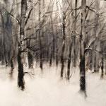 nieve XIV - acuarela - 25X25 cm