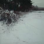 nieve X - acuarela sobre papel adherido a tabla - 40X40 cm